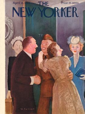 The New Yorker Cover - April 15, 1944 by William Cotton
