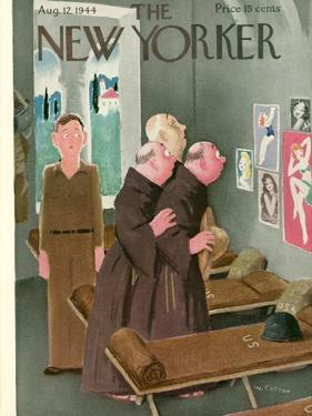 The New Yorker Cover - August 12, 1944 by William Cotton