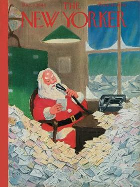 The New Yorker Cover - December 11, 1948 by William Cotton