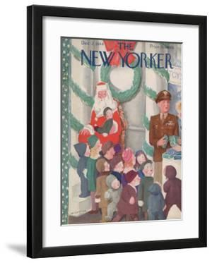The New Yorker Cover - December 2, 1944 by William Cotton