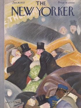 The New Yorker Cover - January 16, 1937 by William Cotton
