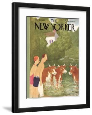 The New Yorker Cover - July 10, 1943 by William Cotton