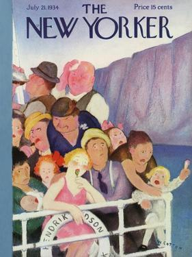 The New Yorker Cover - July 21, 1934 by William Cotton