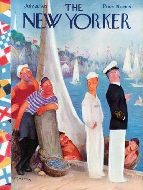 The New Yorker Cover - July 31, 1937 by William Cotton