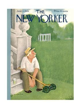 The New Yorker Cover - June 3, 1944 by William Cotton