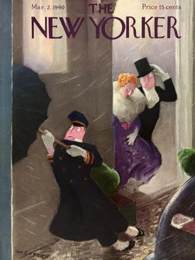 The New Yorker Cover - March 2, 1940 by William Cotton