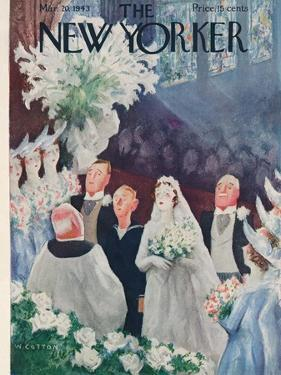 The New Yorker Cover - March 20, 1943 by William Cotton