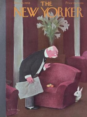 The New Yorker Cover - March 23, 1940 by William Cotton
