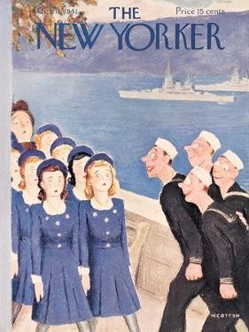 The New Yorker Cover - October 11, 1941 by William Cotton