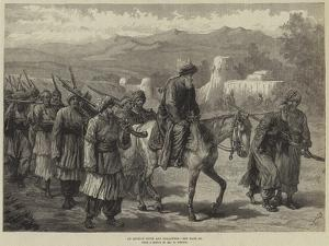 An Afghan Chief and Followers by William 'Crimea' Simpson