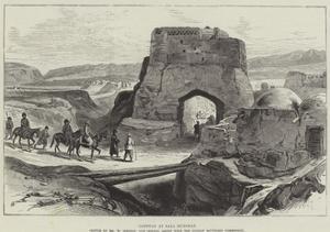 Gateway at Bala Murghab by William 'Crimea' Simpson