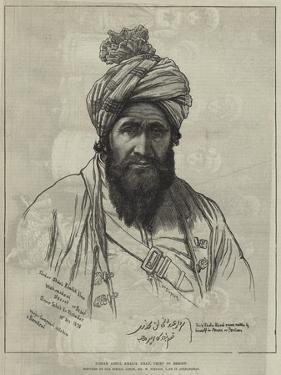 Sirdar Abdul Khalik Khan, Chief of Bezoot by William 'Crimea' Simpson