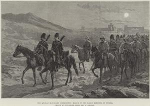 The Afghan Boundary Commission, March in the Early Morning, in Persia by William 'Crimea' Simpson