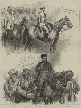 The Afghan War, Sketches at a Review at Gundamuck by William 'Crimea' Simpson