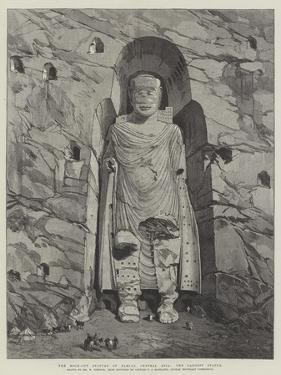 The Rock-Cut Statues of Bamian, Central Asia, the Largest Statue by William 'Crimea' Simpson