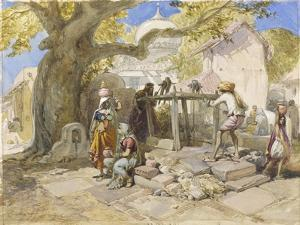 The Village Well, 1864 by William 'Crimea' Simpson