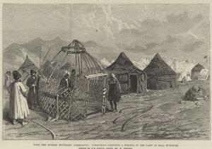 With the Afghan Boundary Commission, Turkomans Erecting a Kibitka in the Camp at Bala Murghab by William 'Crimea' Simpson