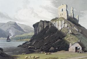 Aros Castle, Isle of Mull, Scotland, 1818 by William Daniell