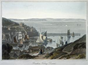 'Brixham, Torbay, Devon', 1825 by William Daniell