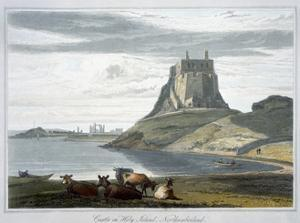 'Castle on Holy Island, Northumberland', 1822 by William Daniell