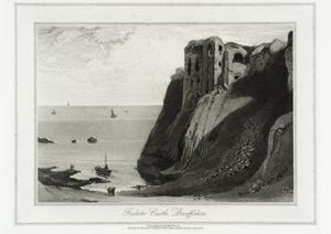 Finlater Castle, Banffshire by William Daniell