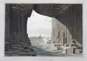 In Fingal's Cave, Staffa, Scotland, 1829 by William Daniell