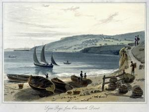 'Lyme Regis, from Charmouth, Dorset', 1814-1825 by William Daniell