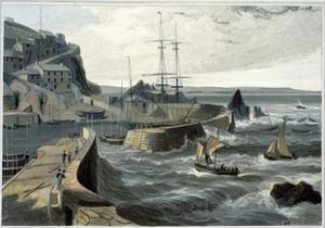 'Mevagissey, Cornwall', 1825 by William Daniell