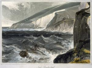 'Near Beachy Head', Sussex, 1823 by William Daniell