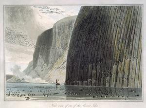 'Near view of one of the Shiant Isles', Outer Hebrides, Scotland, 1829 by William Daniell