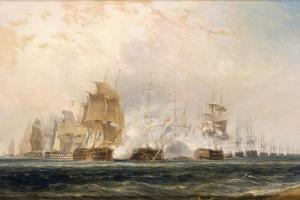 The Battle of the Nile by William Daniell