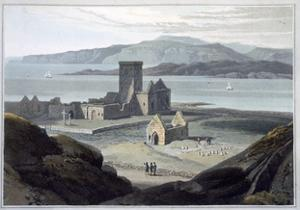 'The Cathedral at Iona', Argyll and Bute, Scotland, 1817 by William Daniell