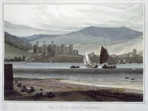 'View of Conway Castle, Caernarvonshire', Wales, 1814-1825 by William Daniell