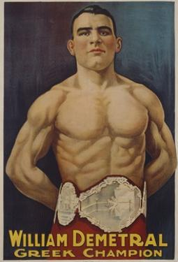 William Demetral Greek Champion Poster