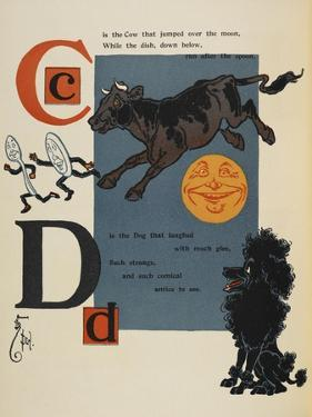 Alphabet Page: C and D. the Cow That Jumped Over the Moon. the Dog That Laughed by William Denslow