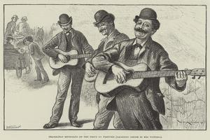 Neapolitan Musicians on the Drive Up Vesuvius (Yachting Cruise in the Victoria) by William Douglas Almond