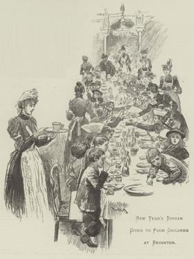 New Year's Dinner Given to Poor Children at Brighton by William Douglas Almond
