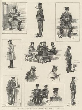 Sketches at Chelsea Hospital, Old Pensioners by William Douglas Almond