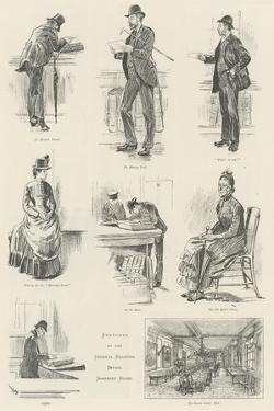 Sketches at the General Register Office, Somerset House by William Douglas Almond