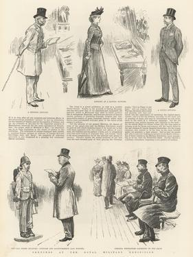 Sketches at the Royal Military Exhibition by William Douglas Almond