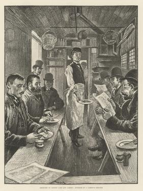 Sketches of London Cabs and Cabmen, Interior of a Cabmen's Shelter by William Douglas Almond