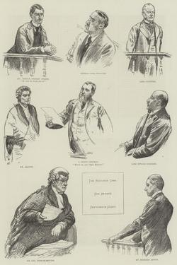 The Baccarat Case, Sketches in Court by William Douglas Almond