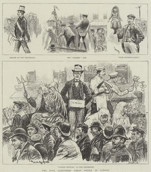 The Dock Labourers' Great Strike in London by William Douglas Almond