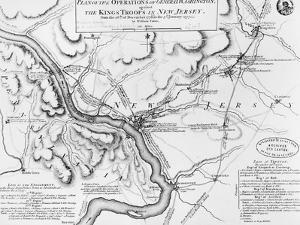 Plan of the Operations of General Washington, Against the Kings Troops in New Jersey, 1777 by William Faden