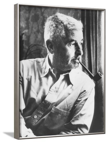 William Faulkner, Won the Nobel Prize for Literature in 1949--Framed Photo