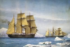 H.M.S. Alert and Discovery on the Arctic Expedition of 1865-1866 by William Frederick Mitchell