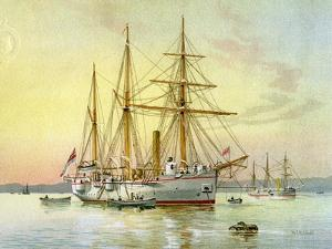 HMS Bramble, Royal Navy 1st Class Gunboat, C1890-C1893 by William Frederick Mitchell
