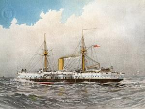 HMS Colossus, Royal Navy 2nd Class Battleship, C1890-C1893 by William Frederick Mitchell