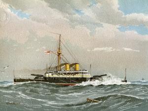 HMS Rodney, Royal Navy 1st Class Battleship, C1890-C1893 by William Frederick Mitchell