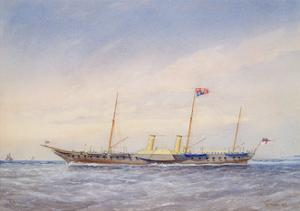 The Royal Yacht Osbourne, 1876 by William Frederick Mitchell